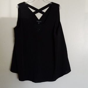 Lane Bryant black sleeveless top
